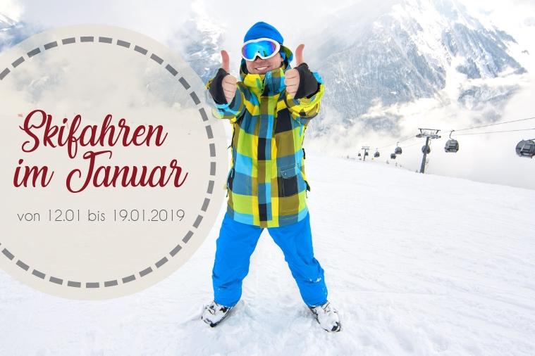 Skifahren im Januar